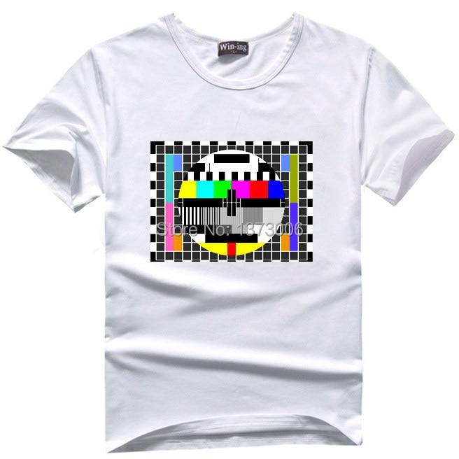 TV Signal T Shirt Men Tee Sheldon Cooper T Shirts Comic