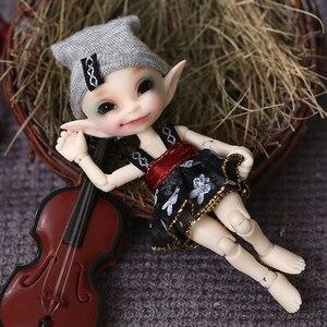 Image 4 - Realpuki Papilio ücretsiz kargo Fairyland FL bebek BJD 1/13 pembe gülümseme elfler oyuncaklar kız için küçük reçine eklemli bebek