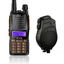 GT-5 Baofeng VHF/UHF 136-174/400-520 MHz FM Jamón de Dos vías de Doble Banda de Radio Walkie Talkie con Doble PTT Altavoz