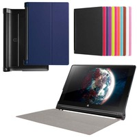 Ultra Slim Custer Fold Folio Flip Stand Leather Skin Magnetic Cover Case For Lenovo YOGA Tab