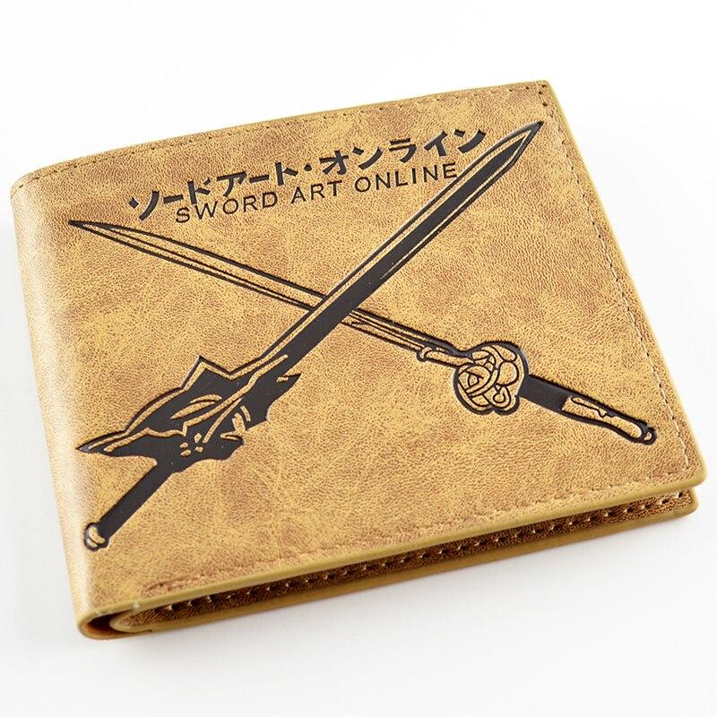 Anime Sword Art Online SAO Short PU Leather Purse Comic Cosplay Carteira Wallet Billfold Card Holder japan anime sword art online wallet cosplay men women bifold coin purse