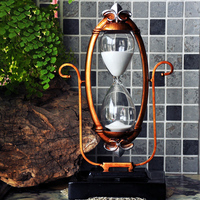 Creative Clear Glass Hourglass about 30 Minutes Sand Clock Timer Office Desktop Vintage Decoration Adornment Crafts Sandglass