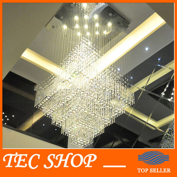 JH Modern Luxury Villa Large LED Crystal Chandeliers Penthouse Floor Hall Stairs Light K9 Crystal Lamp Hotel Engineering Lights best price modern led spherical k9 crystal lamp duplex stairs luxury villa round ball crystal pendant lights project lights