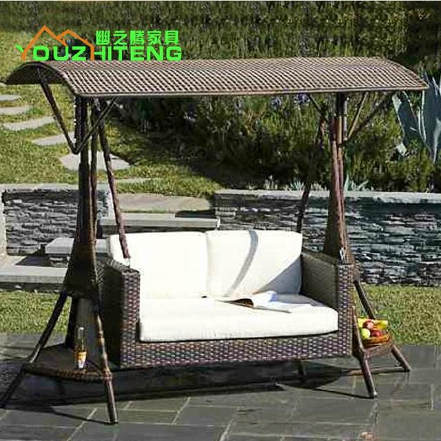 The Cane Makes Up Outdoor Cradle Swing Chair Courtyard Double Hanging Chair  Adult Leisure Garden Hanging