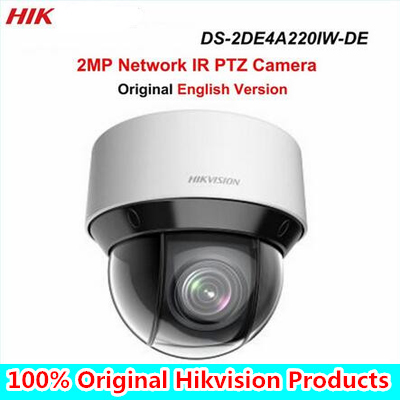DHL Free shippin English version DS-2DE4A220IW-DE 20X Optical zoom 2MP Network mini outdoor indoor PTZ Dome Camera POE 50m IR free shipping ds 2df5274 a original english version 1 3mp network speed dome 20x optical zoom camera