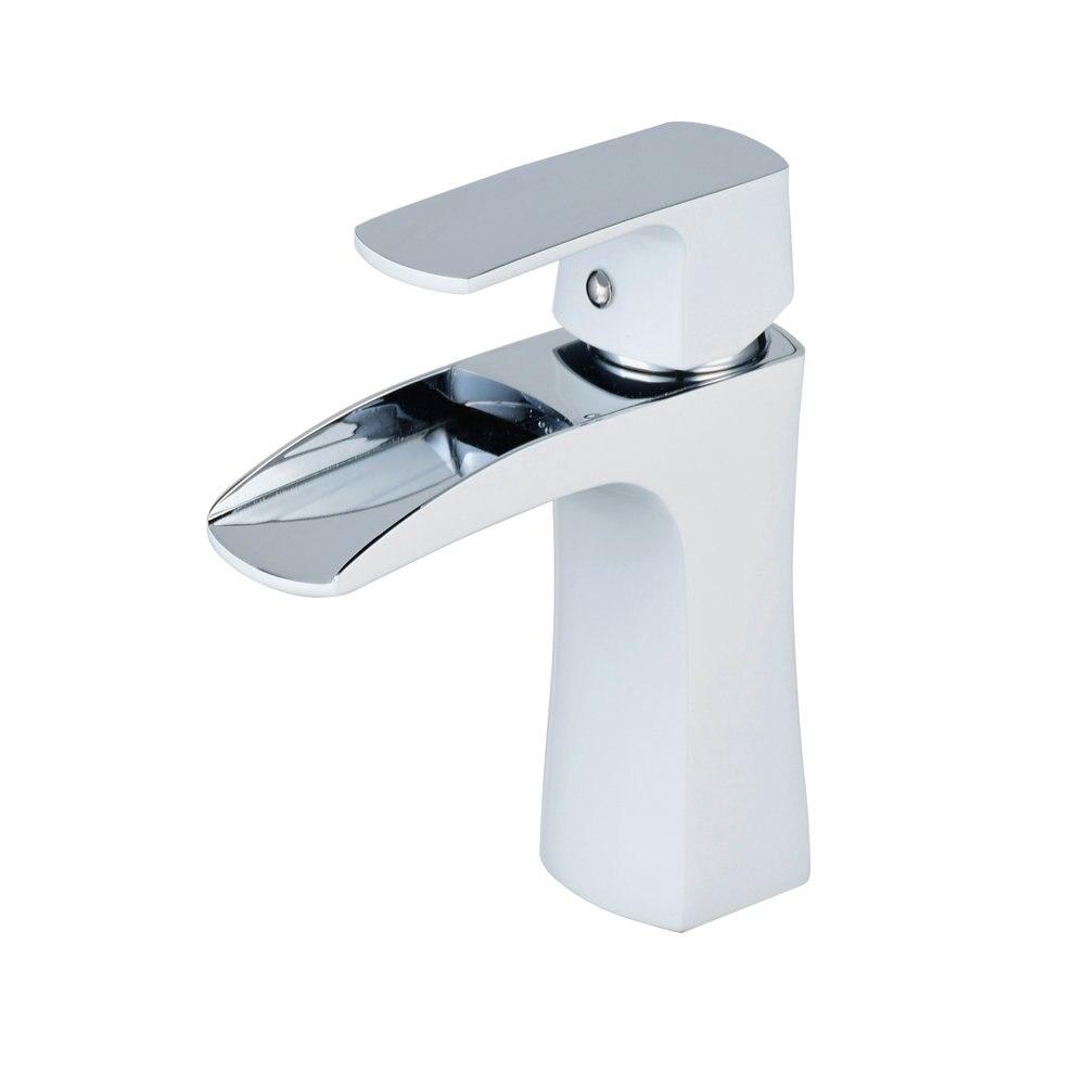 Beelee BL0556 mitigeur de salle de bain avec cascade à un seul trou robinet mitigeur avec évier sans débordement, robinet de lavabo - 4