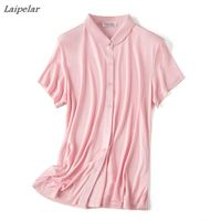 double sided knitted 100% silk t shirt women 2018 female slim single breasted short sleeve T shirts heavy duty Laipelar