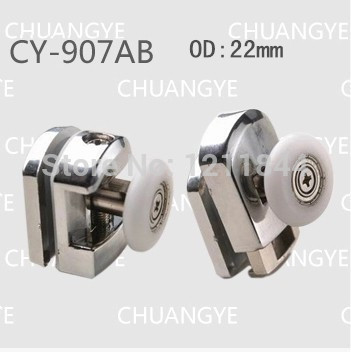 Bath room pulley Arc shower alloy swing single wheel shower room accessories bathroom sliding door hanging wheel 8pcs/set