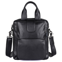 J.M.D Top Quality Handle Leather Black Small Messenger Bag Vintage Genuine Mens Handbag Fashion 7266A