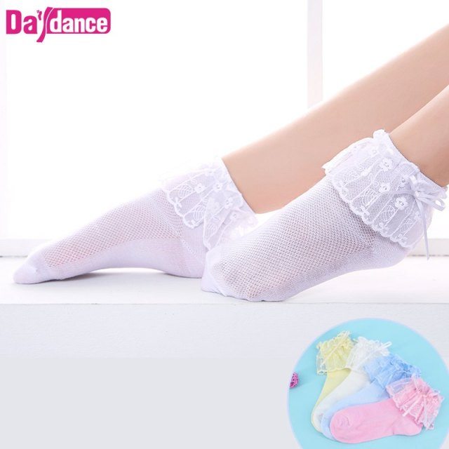 e32876482 5 Pairs Toddler Baby Girls Ankle Socks Lace Ruffles Princess Dance Tights  White Pink Ballet Socks