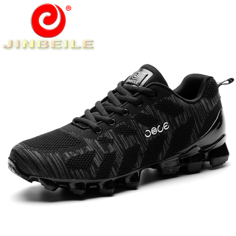 JINBEILE 2018 Breathable Man Sneakers Spring and Autumn Running Shoes Men Durable Rubber Outsole Men Sport Shoes Free Shipping original adidas men s running shoes sneakers spring free shipping
