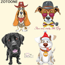 ZOTOONE Patches Beauty Dog Parche T-Shirt Sweater Jacket Heat Transfer A-level Washable For Clothing Iron On Patch C