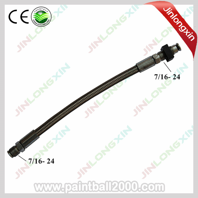SPUNKY Paintball 6'' Tippmann Gas Line Braided Hose With Square Nut(China)