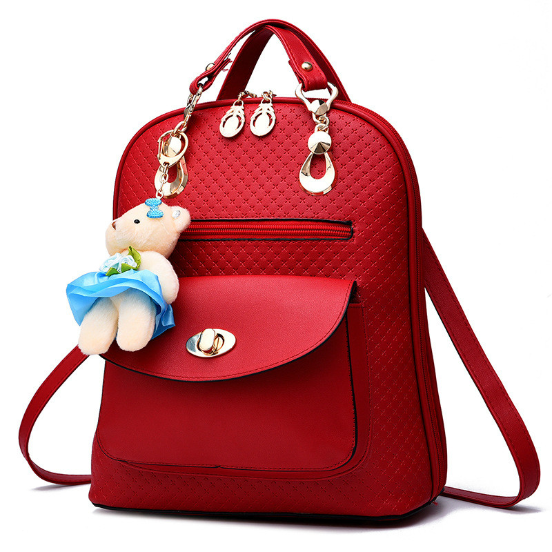 MONNET CAUTHY Female Bags Classic Concise Leisure Fashion Girls Backpacks Solid Color Wine Red Pink Black White Deep Blue Bag lson female to female breadboard jumper dupont cable white black red blue yellow 28 pcs