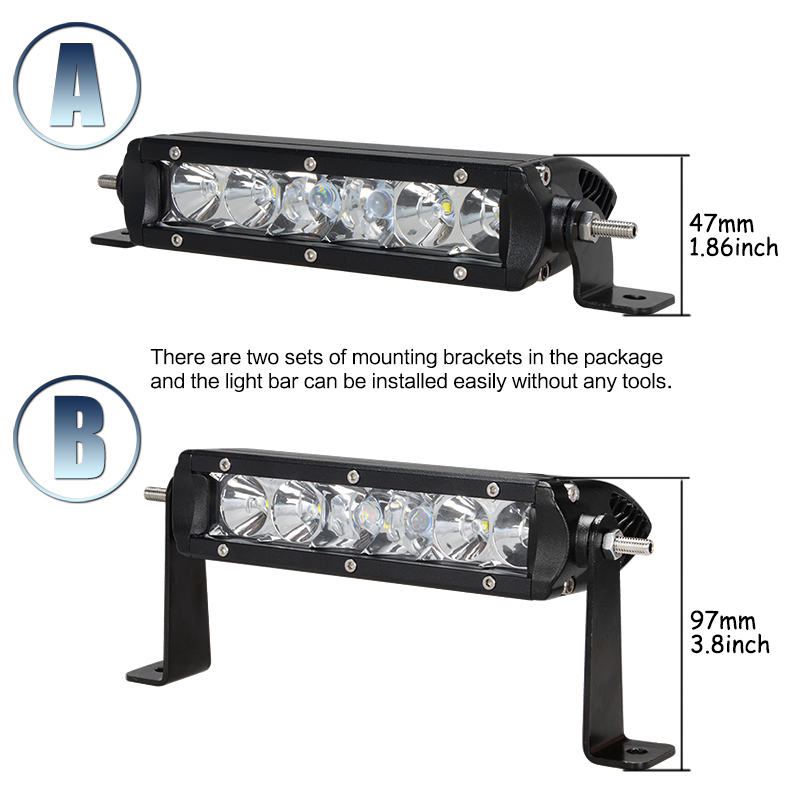 Racbox 7 inch off road led light bar 30w combo flood spot beam white racbox 7 inch off road led light bar 30w combo flood spot beam white 12v 24v for car truck motorcycle uaz gaz atv work bar light in light barwork light aloadofball Gallery