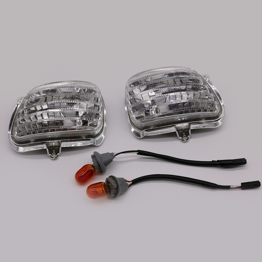 Motorcycle Front Turn Signals Indicator Lamp Blinker Lens Cover for Honda GL1800 / GL1800 ABS / GL1800HP / GL1800P Goldwing 12v 3 pins adjustable frequency led flasher relay motorcycle turn signal indicator motorbike fix blinker indicator p34