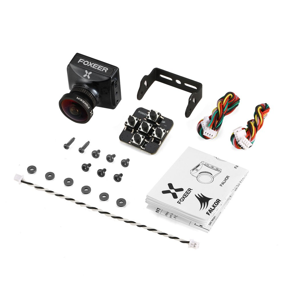 Foxeer Falkor FPV Camera 1200TVL 1/3 CMOS 4:3 / 16:9 PAL / NTSC Switchable G WDR OSD For RC Racing Drone Black Blue Red Silver