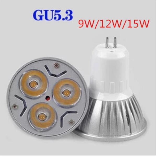 1PCS Gu5.3 LED Spotlight Bulb Dimmable Lamp GU53 9W 12W 15W 85V-265V Warm Cool White LED Bulb CE ROHS