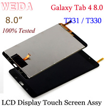 WEIDA LCD Replacment 8 For Samsung Galaxy Tab 4 8.0 T331 T330 Display Touch Screen Assembly SM-T330 WIFI/ SM-T331 3G