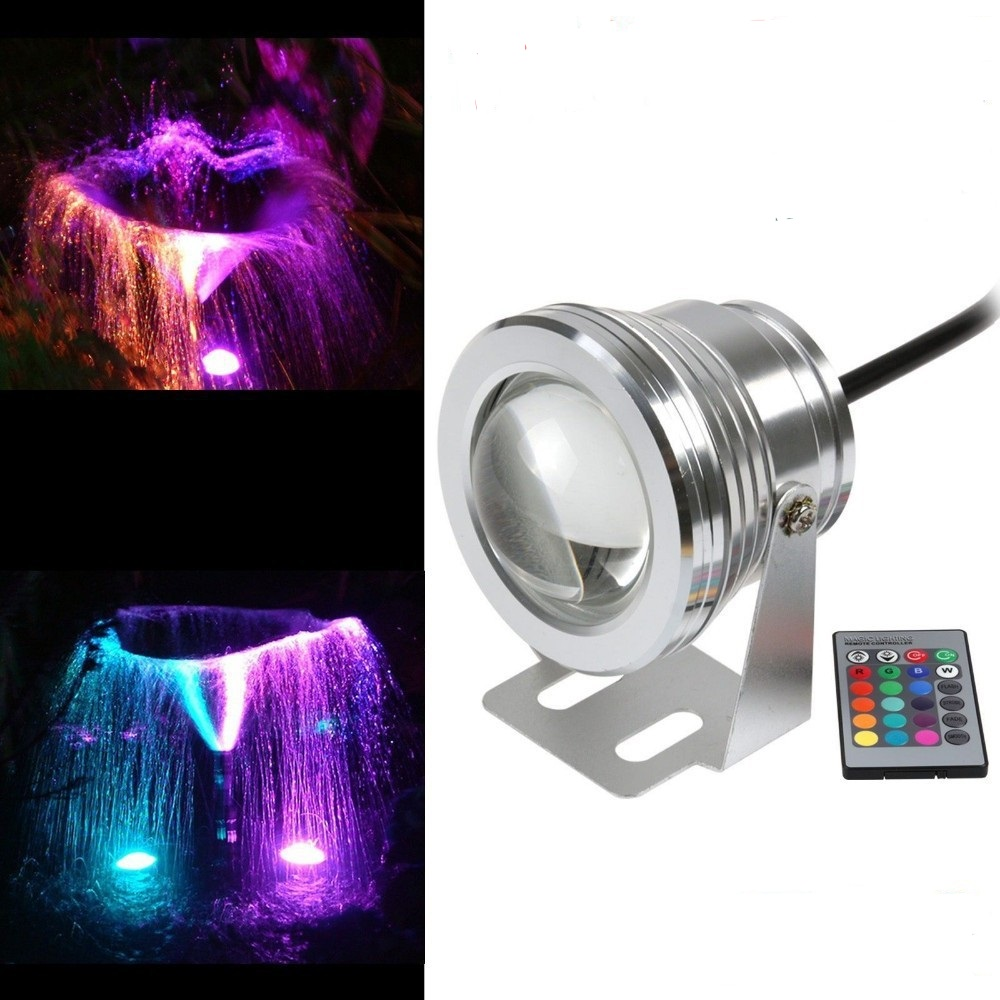 The Best 10pcs/lot Rgb 10w Dc12v Underwater Led Fountain Lights Led Pool Lamp Pond Light Ip67 Under Water Led Light With The Most Up-To-Date Equipment And Techniques Lights & Lighting