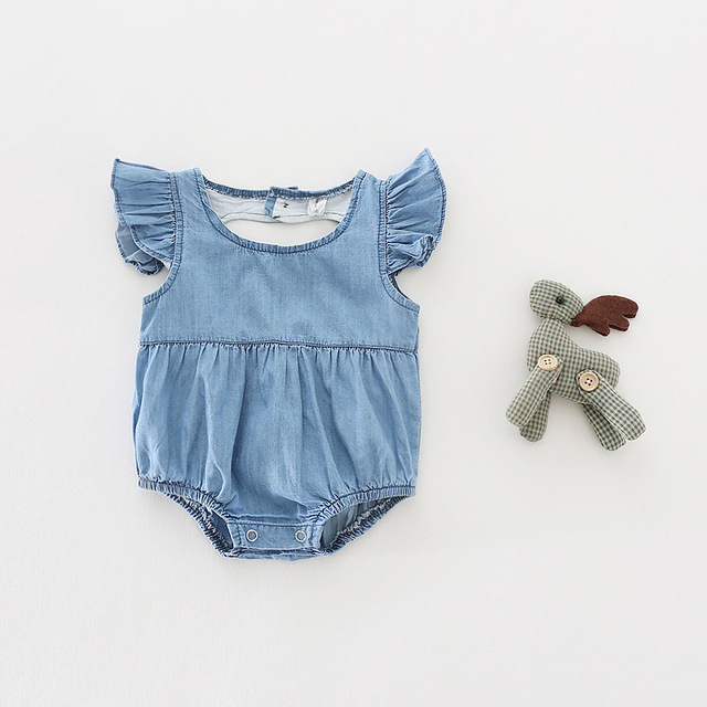 30e48923360b 2017 Ins hot baby cute rompers infant baby girls jean overalls ...
