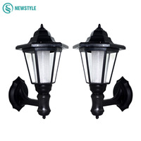 2pcs LED Powered Wall Solar lamp Outdoor waterproof IP55 Solar light 0.5W garden yard light White/warm white lawn lights