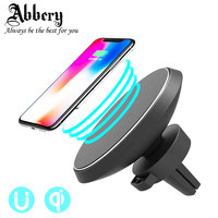Abbery Qi Magnetic Wireless Car Charger Air Vent Mount Phone Holder Stand Cradle for iPhone 8 X for Samsung Galaxy S8 S9 Note 8