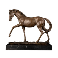 Custom make bronze copper wild horse sculpture statue small size horse crafts office decoration