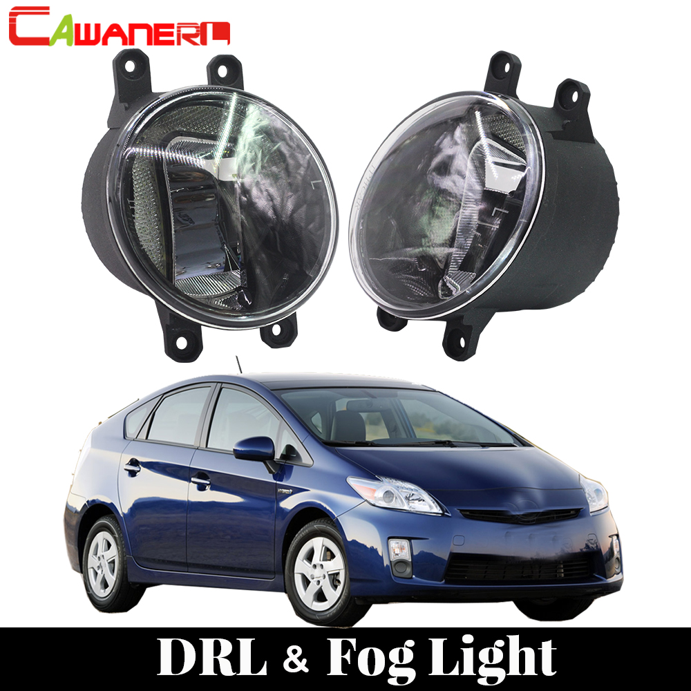 Cawanerl For Toyota Prius 2010 2011 2012 Car Accessories LED Lamp Fog Light Daytime Running Light DRL White 12V High Bright adosphere livre de l eleve cd