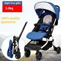 Cochecito de bebé estilo push-pull de 5,9 kg y 12 colores con características de ligero, plegable y portable, carrito de bebé de buena calidad para llevar en el avión