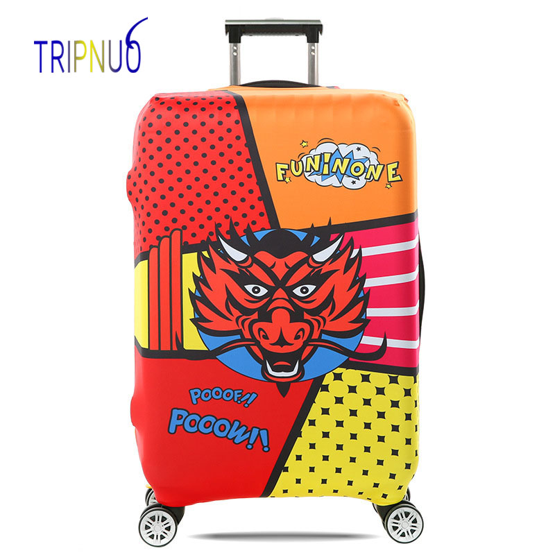 TRIPNUO дорожные аксессуары чемодан защитные чехлы эластичность головы орла Чемодан Чехлы для 18-32 дюймов толстый чемодан Крышка