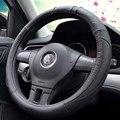 Спортивный кожаный чехол рулевого колеса автомобиля-Стайлинг автомобиля не оставляет запаха диаметр 35/36/37/38/39/40 см также для D формы диаметр...