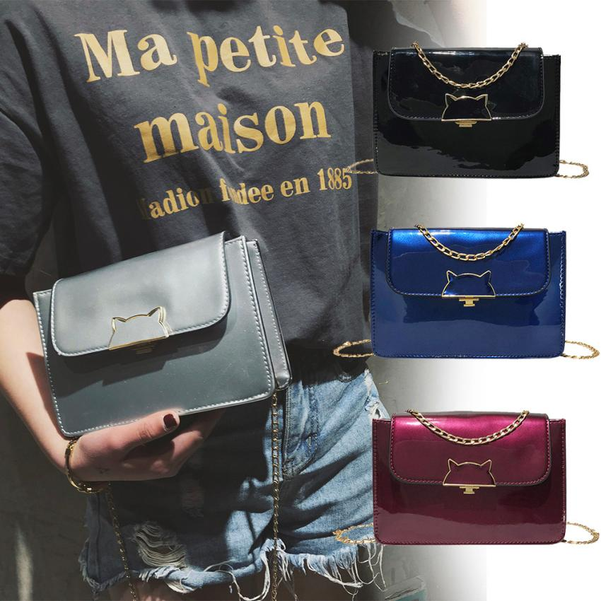Molave Shoulder Bag new high quality Girl Fashion Patent Leather Flap Cat Decoration Crossbody shoulder bag women Mar16