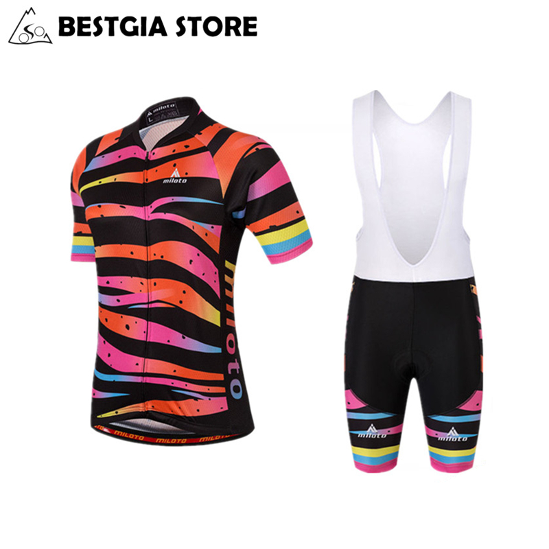 2017 Woman Cycling Jersey Set Sports Bike Wear Female Cycling Jerseys MTB Road Bicycle Breathable Short Sleeves Clothing XS-4XL cycling clothing rushed mtb mavic 2017 bike jerseys men for graffiti cycling polyester breathable bicycle new multicolor s 6xl