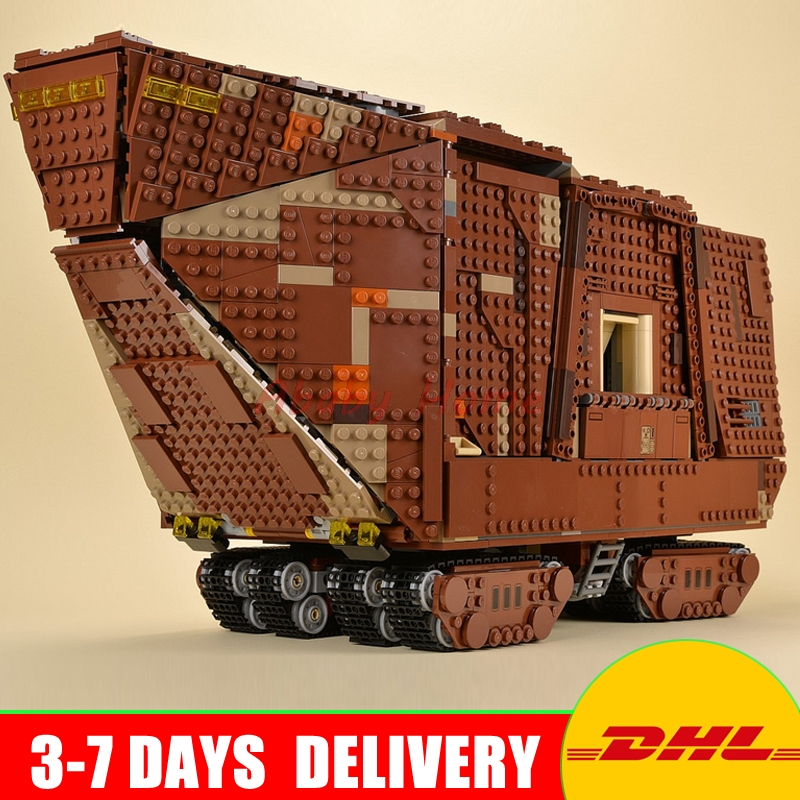 In Stock 2016 LEPIN 05038 UCS Sandcrawler Building Blocks Model Toy 3346pcs Education Gifts For Children 75059 in stock lepin 05038 3346pcs star force awakens sandcrawler wars model building kit blocks brick compatible 75059 children toy