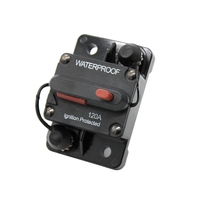 Type III 120A AMP Circuit Breaker Switchable Car Marine Boat Stereo Audio Inline Replace Fuse 12V 72V DC Overload Protection
