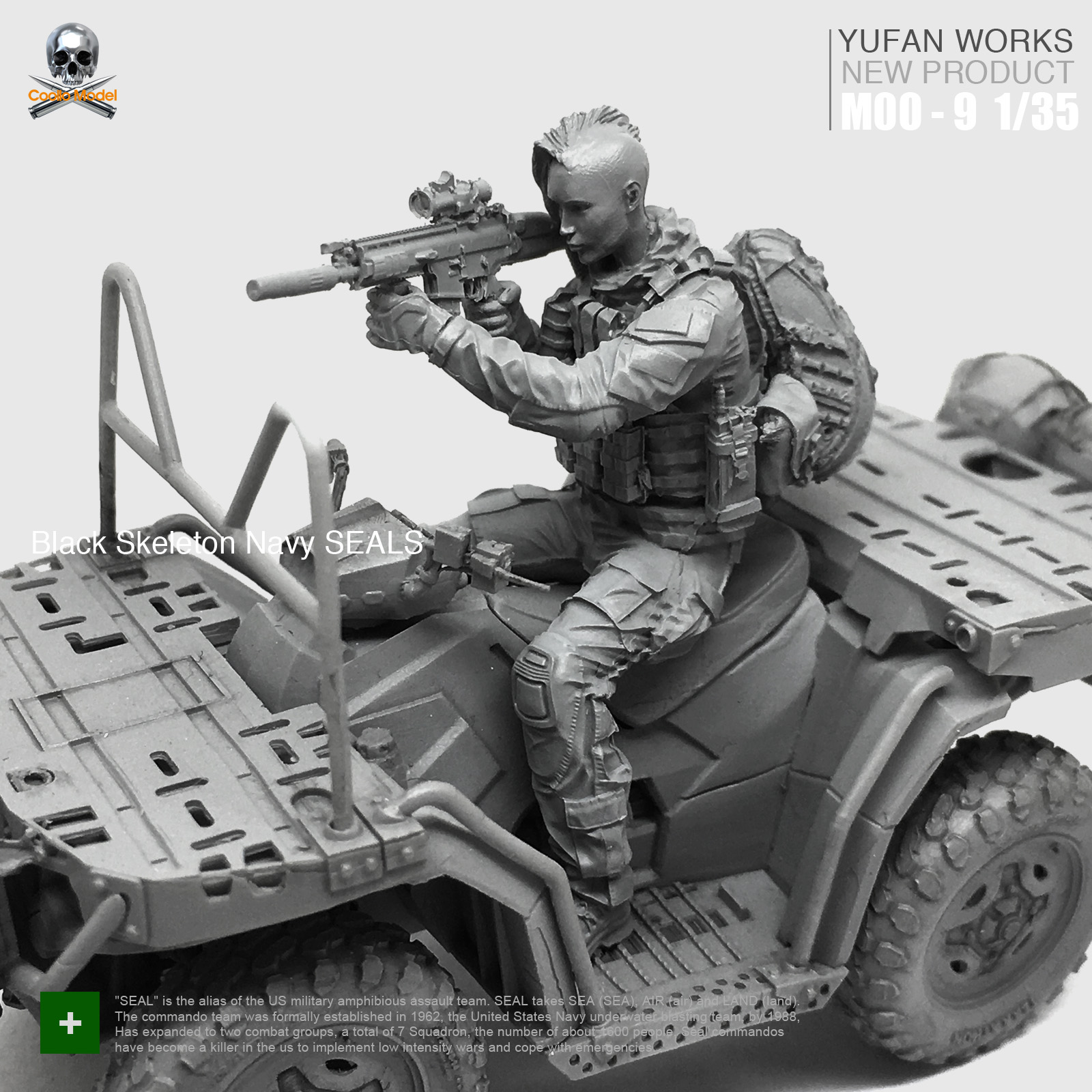 Yufan Model 1 35 Resin Figure Female Soldier Terrain Car US Military Seal Commando Beauty Driver