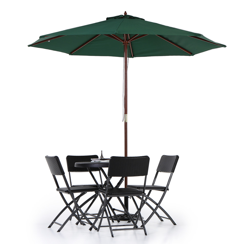 Aliexpress.com : Buy IKayaa US Stock Wooden 2.7M Patio Umbrella Outdoor  Cafe Beach Parasol Jardin Canopy 8 Ribs 38MM Pole Ombrellone Da Giardino  From ...