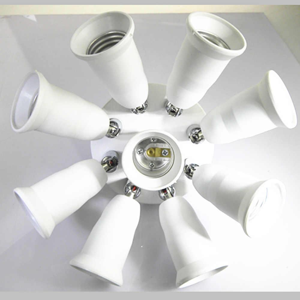 Потолочный светильник падения света E27 основание светильника Вращающийся 3, 5, 9, E27 держатель лампы конвертер 360 градусов Гибкая Поворотная лампа держатель