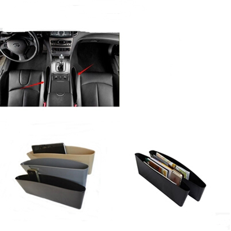 2X Caja de almacenamiento Organizador del coche Asiento Gap Funda - Accesorios de interior de coche - foto 2
