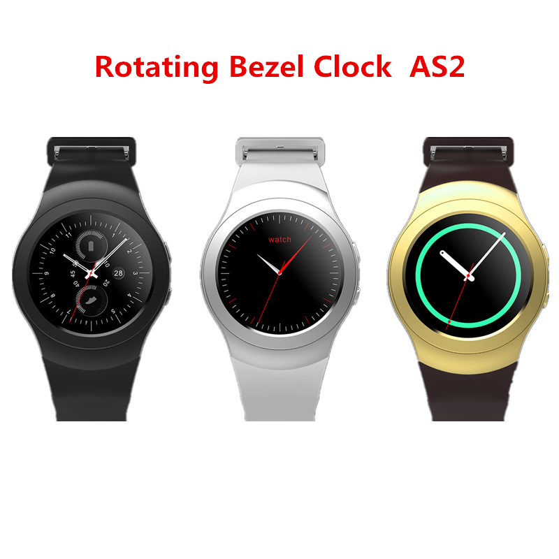Rotating Bezel Clock Full Round Screen Smart Watch AS-2 Bluetooth Smartwatch With Heart Rate Monitor For iOS Android PK G6 KW18 no 1 g6 eu us bluetooth 4 0 heart rate monitor smart watch black
