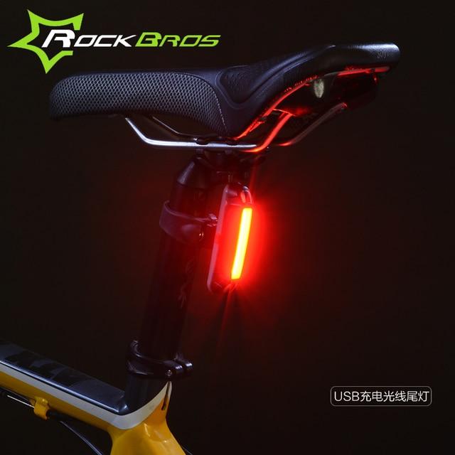 Rockbros USB Bicycle Light luz trasera bicicleta bike tail lights ...