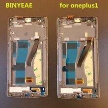 100% тестирование Дисплей для OnePlus One ЖК-дисплей планшета Рамки для OnePlus One ЖК-дисплей Дисплей сборки для One Plus 1 1 + ЖК-дисплей A0001