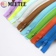 18pcs 3# Meetee 20cm Close-End Nylon Zipper For Sewing Trousers DIY Handbag Bag and Craft 18 Colors Supply AP2331(China)