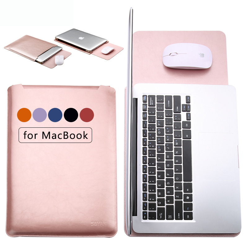 Fashion PU Laptop Sleeve Bags Case for Macbook Air 11 12 13 15 inch Xiaomi
