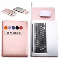 Fashion PU Laptop Sleeve Bags Case For Macbook Air 11 12 13 15 Inch Xiaomi Mi
