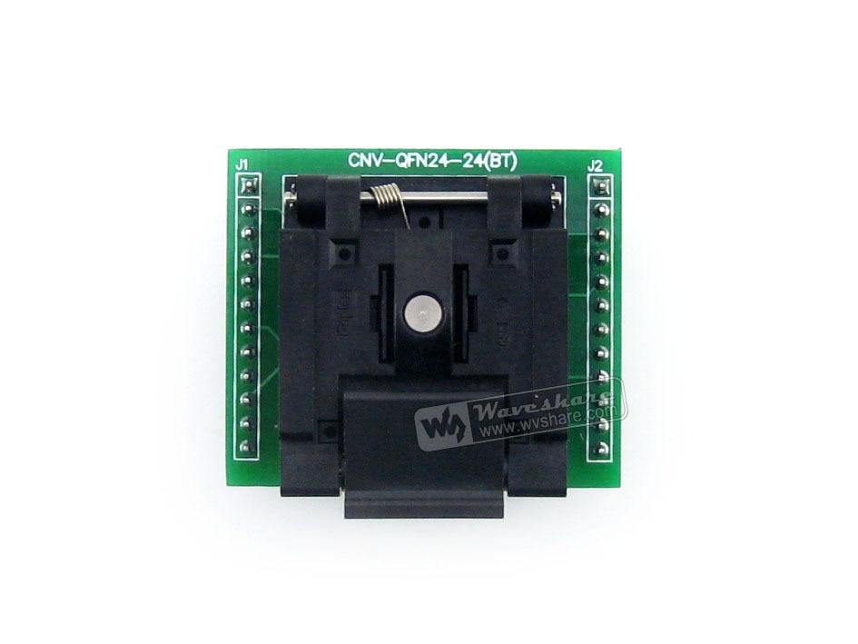 QFN24 TO DIP24 (A) Enplas QFN24 MLF24 MLP24 QFN-24BT-0.5-01 IC Test Socket Adapter 0.5mm Pitch new qfn28 d28 burning seat adapter qfn 28b 0 65 01 to test