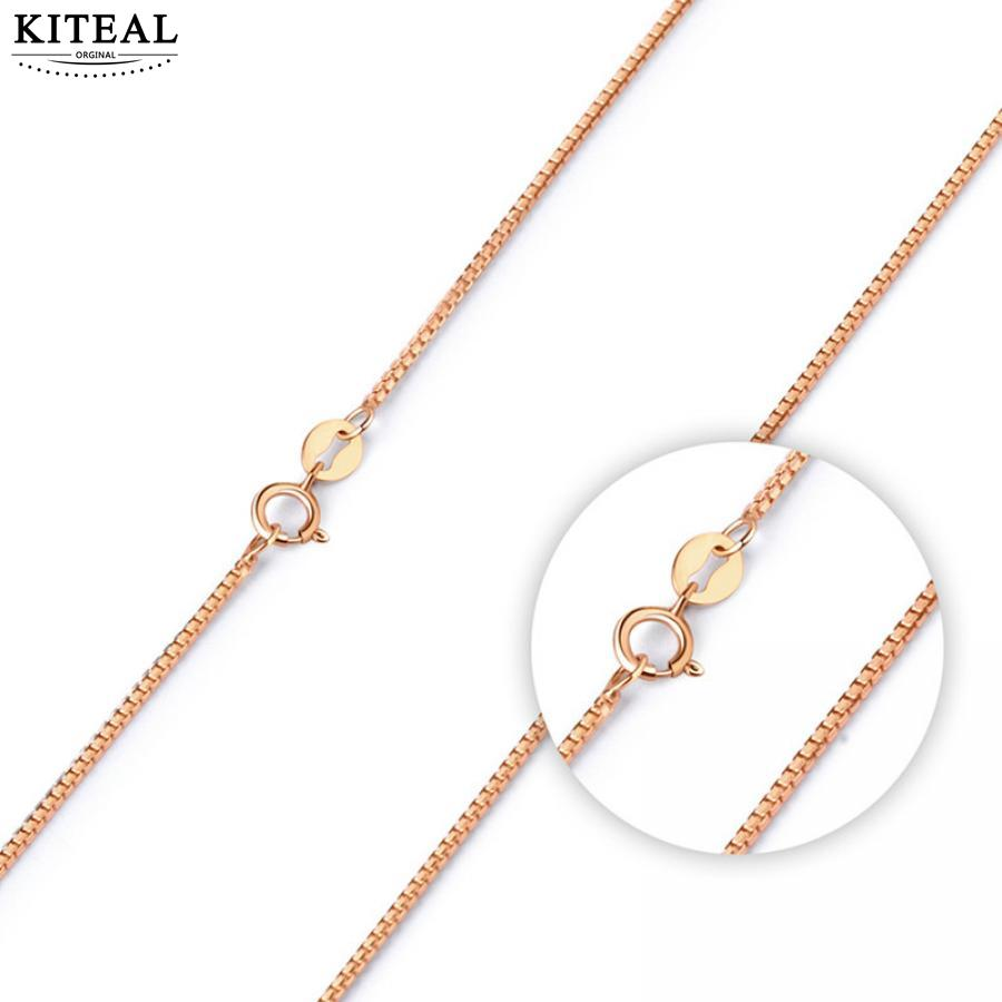 KITEAL Hot Selling necklace for women Rose gold box necklace 45cm*1mm simple style collier Personalized
