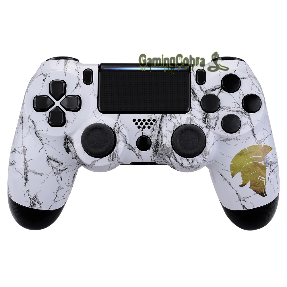 Hydro Dipped Front Housing <font><b>Shell</b></font> Faceplate Cover Replacement Kit for PS4 Slim Pro CUH-ZCT2 <font><b>JDM</b></font>-040 050 <font><b>055</b></font> Controller - SP4FT39 image