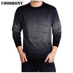 COODRONY кашемировый свитер Мужская брендовая одежда мужские свитера с принтом Повседневная рубашка осенний шерстяной пуловер Мужской с